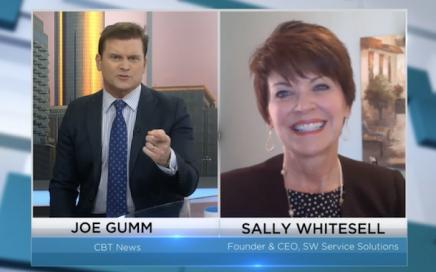 Screenshot of Sally Whitesell on CBT news